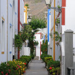 Street in Puerto de Mogan, Grand Canary Spain — Stock Photo