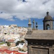View over Las Palmas de Gran Canaria, Spain - Stock Photo