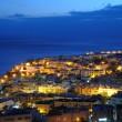 Town Morro Jable at night. Fuerteventura, Spain — Stock Photo