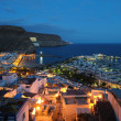Puerto de Mogan at night, Grand Canary — Stock Photo