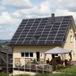 House with solar panels on the roof — Stock Photo