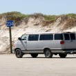 Stock Photo: Old vdriving on beach