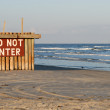 Royalty-Free Stock Photo: Do Not Enter sign on the beach