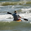 Stock Photo: Kayak surfing