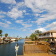 Houses waterside, Padre Island, Texas — Stock Photo #6394477