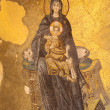 Virgin Mary and Jesus Christ Mosaic in Hagia Sophia Mosque, Istanbul Turkey — 图库照片