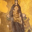 Virgin Mary and Jesus Christ Mosaic in Hagia Sophia Mosque, Istanbul Turkey — Foto de Stock