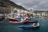 Fishing boats in Puerto de Mogan, Grand Canary — Stock Photo