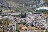 Aerial view over Arucas, Grand Canary — Stockfoto
