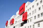 Modern Red and White Residential House — Stock Photo