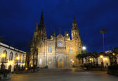 Arucas Cathedral at night. Grand Canary, Spain — Stock Photo