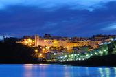 Town Morro Jable at night. Fuerteventura — Stock Photo