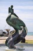 рыбак статуя в маспаломасе — Стоковое фото