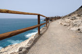 Hiking trail on the coast of Canary Island Fuerteventura — Stock Photo
