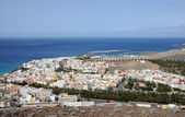 Letecký pohled na morro jable, kanárském ostrově fuerteventura — Stock fotografie