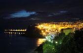 Město morro jable v noci. fuerteventura, španělsko — Stock fotografie