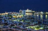 Puerto de mogan, à noite, gran canaria — Foto Stock