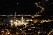 Arucas bei nacht, gran canaria, spanien — Stockfoto