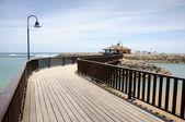 Pier in caleta de fuste, kanarischen insel fuerteventura — Stockfoto