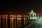Promenade in Corpus Christi at night, Texas — Stock Photo