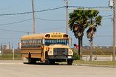 Yellow American school bus — Stock Photo