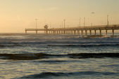 Pier in the morning — Stock Photo