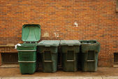 Garbage tons — Stock Photo
