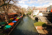 View over the River Walk in San Antonio, Texas USA — Stock Photo