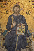 Jesus Christ Mosaic in Hagia Sophia Mosque, Istanbul Turkey — Stock Photo