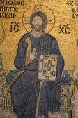 Mozaika chrystusa jezusa w świątyni hagia sofia, istanbul, turcja — Zdjęcie stockowe