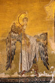 Ancient mosaic of an angel. Hagia Sophia Mosque, Istanbul — Stock Photo