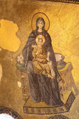 Virgin Mary and Jesus Christ Mosaic in Hagia Sophia Mosque, Istanbul Turkey — Stock Photo