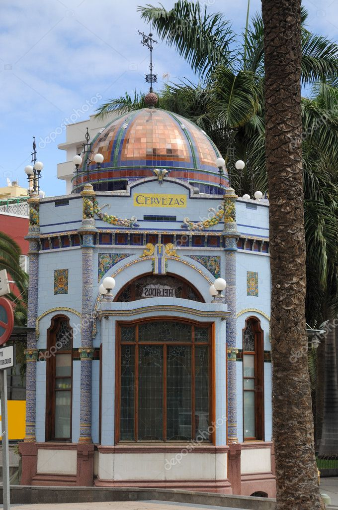 Kiosk in San Telmo Park, Las Palmas de Gran Canaria Spain — Stock Photo #6391804
