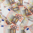 Fifty euro banknotes background — Stock Photo #6501847