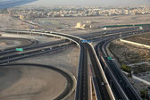 Svincolo autostrada a dubai, emirati arabi uniti — Foto Stock