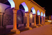 Archway Illuminated At Night, Oman — Stok fotoğraf