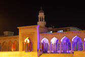 Mosque illuminated at night, Muscat Sultanate of Oman — Stock Photo