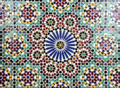 Oriental mosaic in a mosque, Sultanate of Oman — Photo