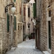 Stock Photo: Narrow street in old town of Sibenik, Croatia