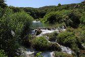 Waterfall in Krka National Park in Croatia — Stock Photo