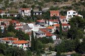 Traditional rural houses in Croatian town Murter — Stock Photo