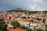 View over Croatian town Sibenik — Stock Photo