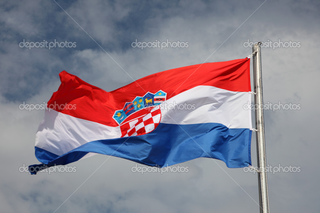Croatian flag waving in the wind — Stock Photo #6683199