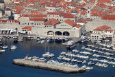 Old port of the medieval town Dubrovnik in Croatia — Stock Photo