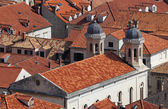 Aerial view over the red rooftops of Dubrovnik, Croatia — Stock Photo