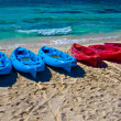 Boats on the beach — Stock Photo