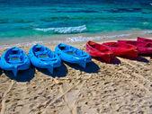 Boats on the beach — Stock Photo