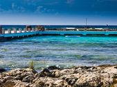 Muelle en la playa — Foto de Stock