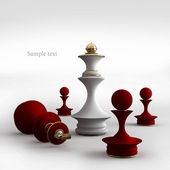 Chess situation — Stock Photo