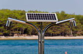 Solar, hot water shower on the seaside 3 — Stock Photo
